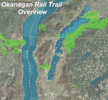 Okanagan Rail Trail map