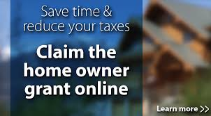 Claim the home owner grant online