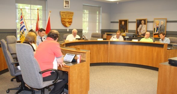 Mayor and Council meeting at Municipal Hall Council Chambers